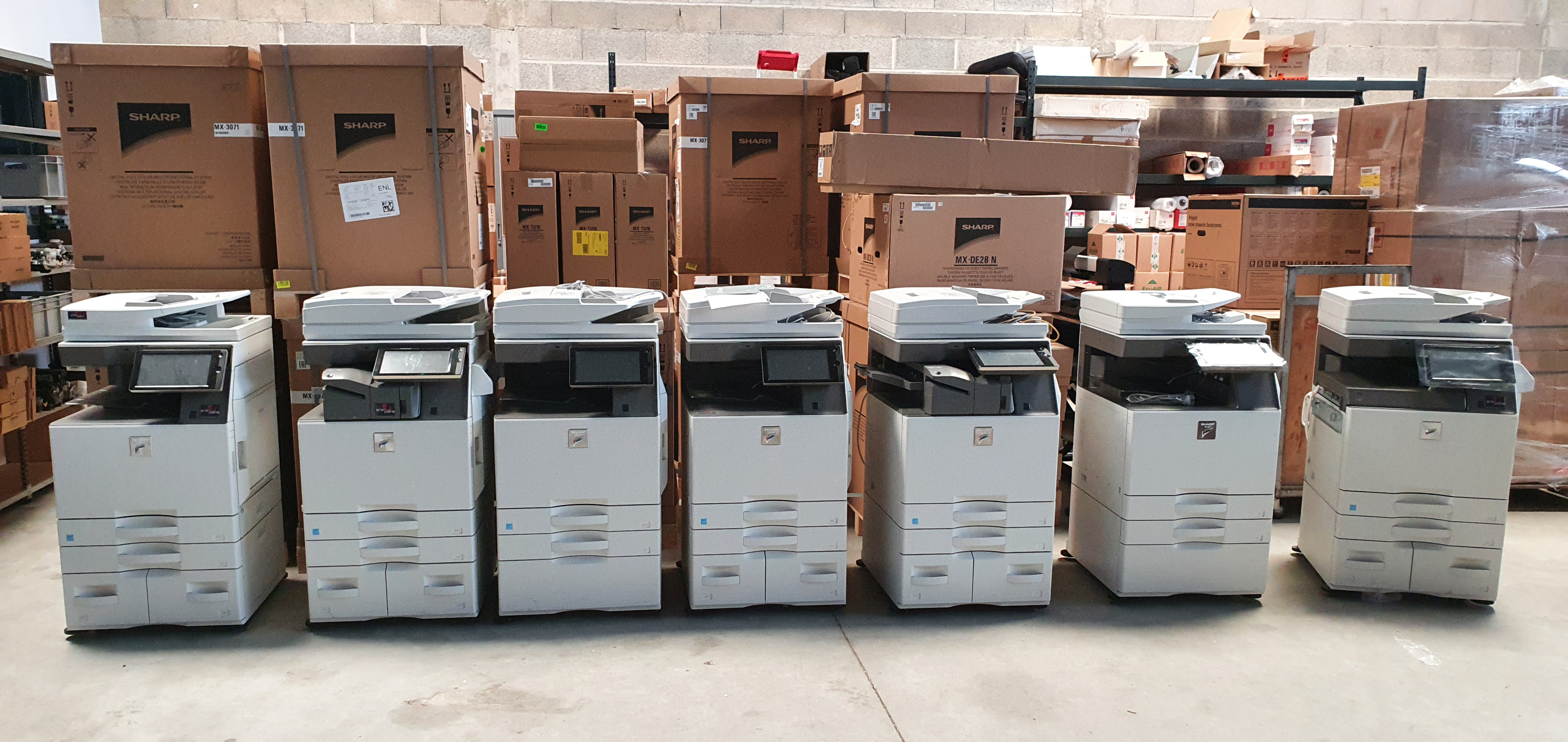 Ligne de copieurs
